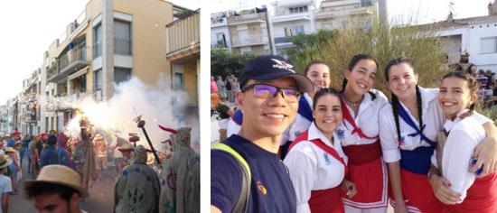 西班牙傳統節日巡遊及煙火表演