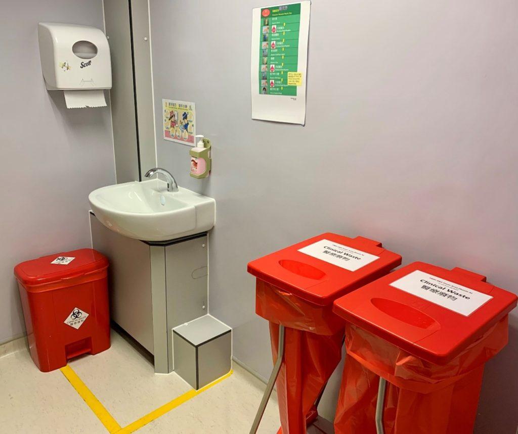 防護裝備卸除室